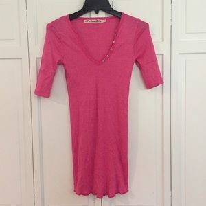 Michael stars maternity pink short sleeve top sz s